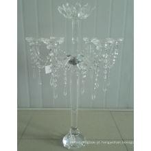 Titular de vela de cristal para a decoração do casamento com sete cartaz