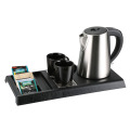 Welcome hotel hospitslity tray with hervidor set de bandejas