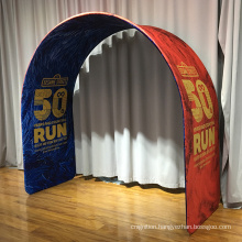 Tension fabric displays custom portable event arch