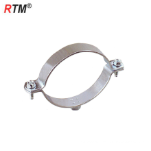 Inch steel single pipe clamps