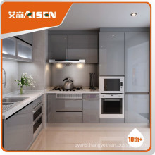 Popular for the market high gloss/matt grey lacquer kitchen cabinet