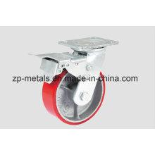 PU de aluminio de servicio pesado con rueda de rueda lateral entera