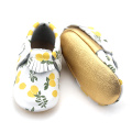 Lemon Corak Segar Moccasins Soft Baby Shoes