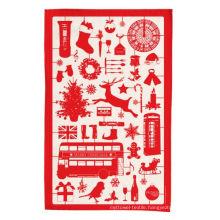 hight quality Christmas red kitchen towel tea towel TT-037