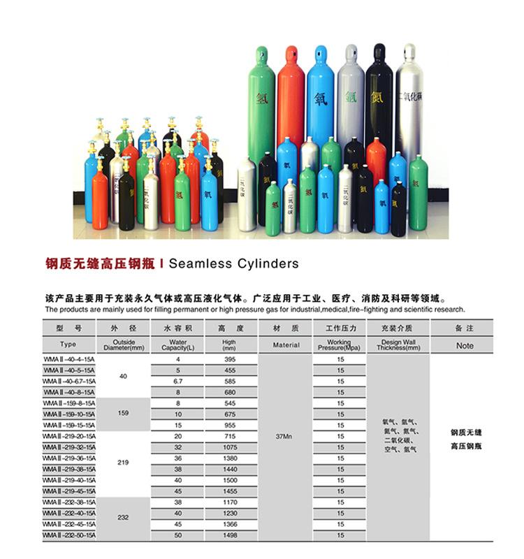 high quality Oxygen Gas Cylinder