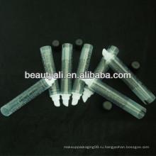 Бальзам для губ косметическая мягкая пластиковая трубка для блеска для губ