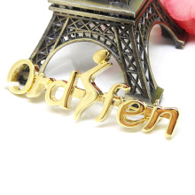 Factory Metal Alloy Customized Name Logo Brooch Wholesale