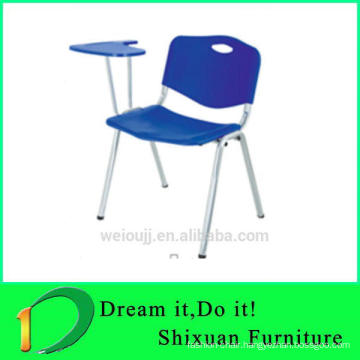 Metal frame plastic school chair for sale and export