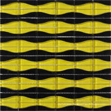 Black and Yellow Crystal Glass Mosaic Designs