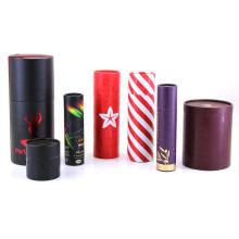 Custom Cylinder Round Cardboard paper lipgloss boxes 10mm Lip Balm Lipstick Tea Packaging Kraft Paper packaging Tube