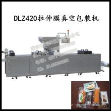 Máquina de embalagem a vácuo de alimentos resfriados por estiramento contínuo totalmente automático Dlz-460