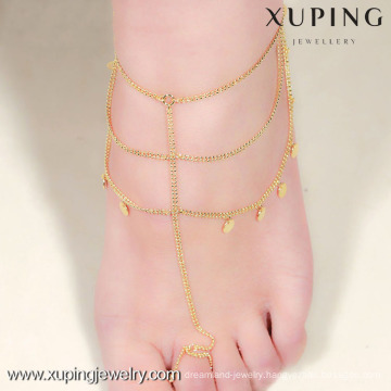 Xuping Jewelry gold anklet designs, anklets for women
