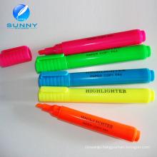 Wholesale Cheap Multi Color Highlighter Marker Pen Set with Cap