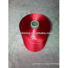 Viskose Filament Garn rohen weißen hellen Kuchen gefärbt 75D / 18F