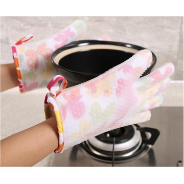 New Fashion Flower Pattern Guanto per forno cottura