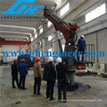 small size Electric hydraulic telescopic articulated boom provision marine lifting crane for sale