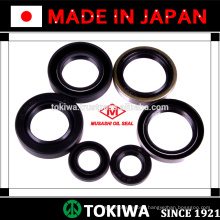 Musashi oil seal made of teflon with superior performance and suitable for various uses. Made in Japan