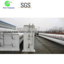 6 Cylindres de stockage de station Cascade CNG Large Tubes