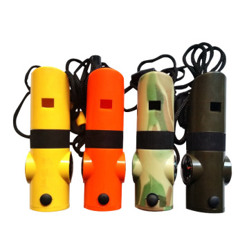 7 in 1 Survival Outdoor Whistle Compass Thermometer