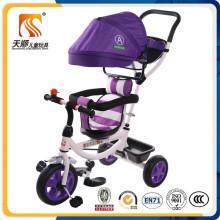 Triciclo ajustável do bebê da segurança do dossel do estilo popular novo
