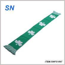 2014 Custom Jacquard Knit Promoción Bufanda de acrílico