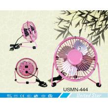 "4 ""2500 RPM mini ventilador USB con hoja de aluminio (USMN-444)"
