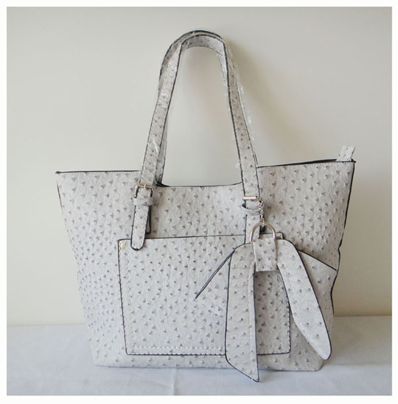 White Leather Tote Womens