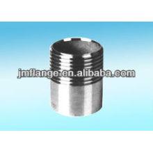 304 BSP screw stainless steel pipe nipple