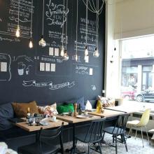 Kaffee-Einkaufsrestaurant-lamellierte Tafel