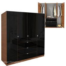 Conception moderne en armoires 4 portes en bois (HF-EY08313)