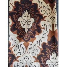 Tejido de terciopelo estampado para cortina