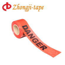 1000' non adhesive red danger PE tape