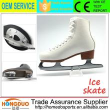 Softy couro em aço inoxidável blad skate sapatos