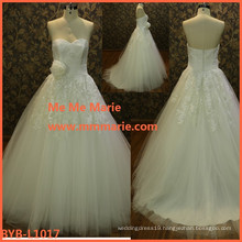 wholesale wedding gown sample pictures crystal flower beaded lace 2016 new design dress bridal gown manufactory BYB-L1017