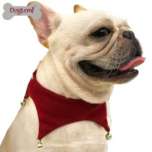 Dog Pet Costume Scarf Accessories Wholesale China Christmas Jingle Bell Scarf