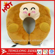 YOCI plush monkey U shape pillow pillow with speaker