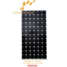 Mono PV Panel solar 190 vatios