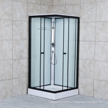 Black Aluminium Clear Glass Shower Cabin with Hand Shower