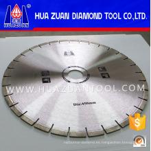 Hoja de sierra de la máquina cortadora de bloques de granito de diamante
