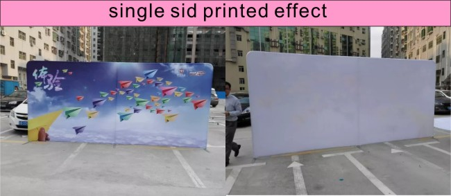 single side printed display