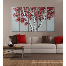Arte moderna da parede da lona da flor para a casa