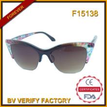 F15138 Половину кадра женщина солнцезащитные очки