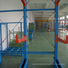 Solución económica de almacenamiento para trabajo pesado / estante en voladizo con tope de brazo