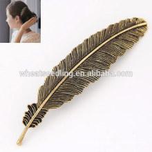 Fournisseur peu coûteux en alliage chaud feuille en forme de tête en épingle à cheveux chinoise épingle à cheveux pour cheveux