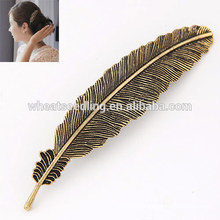 cheap supplier hot alloy leaf shaped chinese hairpin head pin hairpins for hair