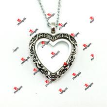 30 milímetros de liga metálica esmalte coração lockets colar de moda presentes (ehl50925)