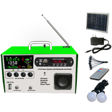 Mini FM LCD solar lighting kit