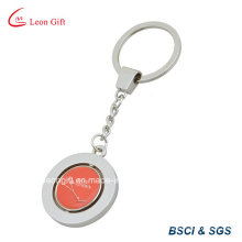 Zinc Alloy Epoxy Rotate Keychain
