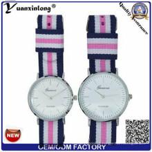 Yxl-547 OEM Logo Nylon Assista Muitos Color Band Man relógios de pulso Luxo Quartz Couple Watch