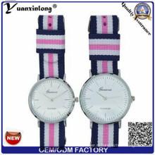 Yxl-547 Логос OEM нейлона часы много Цвет Браслет мужчины наручные часы роскошные Кварцевые часы пара